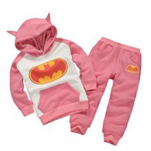 2Color Boys & Girls Children Hoodies & Sweatshirts Kids Boys Clothing Set Cartoon Batman Casual 100% Cotton Hoddies Sweatshirts(China (Mainland))