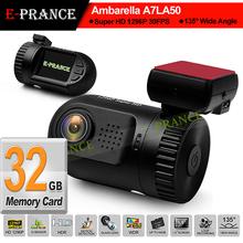E-prance New Mini 0805 Mini 0803 Ambarella A7 LA50 Car DVR Camera Recorder Dashboard 2304*1296 30FPS Optional GPS/Internal 8GB(China (Mainland))