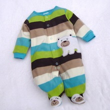 Baby rompers long sleeve cotton baby infant cartoon Animal newborn baby clothes romper b7 SV005578(China (Mainland))
