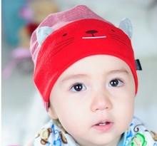 Brand-MEDO&JOJO  2014 Hot  Retail Wholesale Stripe Kitty Baby Beanies  Children Hats Baby Cotton Hats Beanie Infant cap 4colors(China (Mainland))