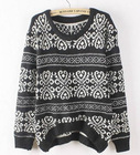 Free Shipping 2013 New Fashion Korean Women Long Loose Sweater Chinese Style Pullover Women's Knitted Sweater women For Winter(China (Mainland))