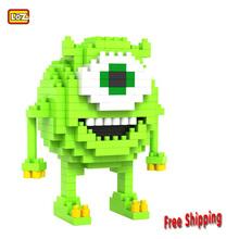 Despicable Me Joege Minions Minifigure LOZ Diamond blocks model building kids toys educational  DIY  block(China (Mainland))