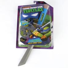 Teenage Mutant Ninja Turtles TMNT Weapons LEONARDO/RAPHAEL Mask Weapon Suit Children's Birthday Toys Party Anime Cosplay(China (Mainland))