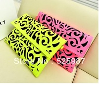 2014 personalized fashion clutch bag neon color day clutch one shoulder cross-body envelope women's handbag Sng20