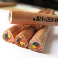 6pcs with gift pencils trigonometric core marco log rod pencil 6403-6cb rainbow pen make dairy wonderful