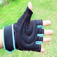Hot-selling fitness gloves male apparatus semi-finger gloves dumbbell horizontal bar sports gloves lengthen wrist support