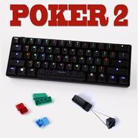 wholesale I kbc poker 2 second generation ii mechanical keyboard black shaft tea shaft
