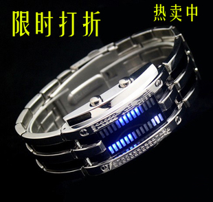 Free shipping Male watch fashion watch tungsten steel table led watch student table led mens watch waterproof