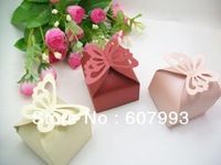 Butterfly Wedding party favor Candy Box, festival gifts bag packing, present chocolate paper packaging,100pcs/lot,Free shipping
