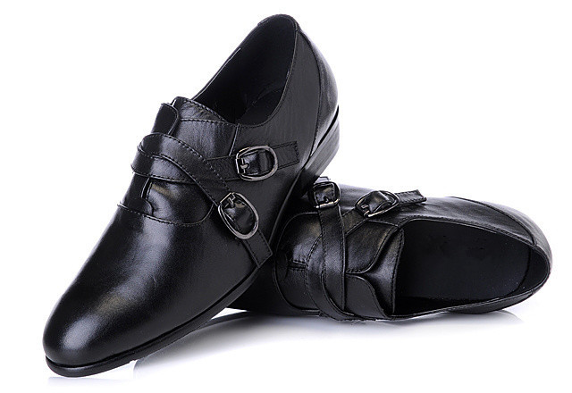 Free Shipping 2013 New Arrive Men Dress Flats Pointed Toe Business Work Leather Shoes Black factory price(China (Mainland))