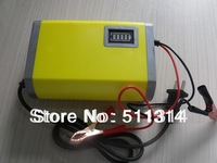 Free Shipping fully-automatic car battery charger,smart car battery charger 12v 6A with Short circuit protection