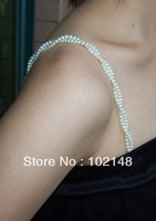Hotsale summer pearl bra straps wedding shoulder strap 1pr/lot free shipping