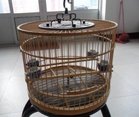 High quality bamboo handmade red bird cage bird cage bamboo crafts huangque red