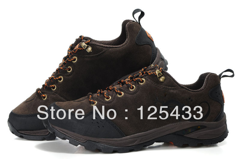 2013 summer genuine leather waterproof hiking shoes for mens womens brands,discount outdoor trekking walking sneakers boot shoes(China (Mainland))