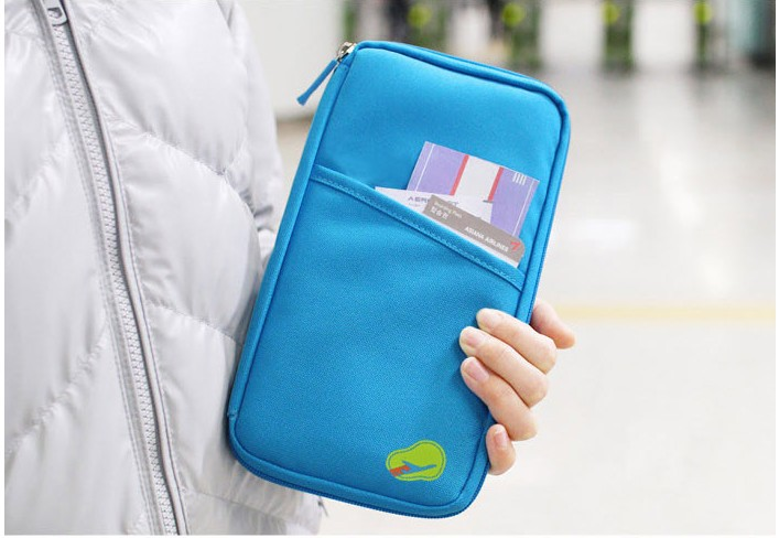 NEW Travel Passport ID Card Key Hand Zipper Case Bag Pouch Wallet Free shipping(China (Mainland))