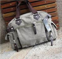 Male male bags canvas bag casual shoulder bag messenger bag fashion student bag handbag travel bag