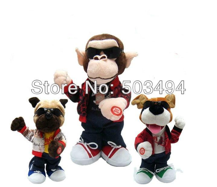 Style Dog Monkey Bear Hamster Battery Operated Plush Toy Toys Doll EMS