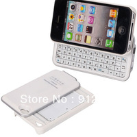 Ultra-thin Wireless with Backlight Bluetooth3.0 Slide Keyboard for iPhone4/4S white