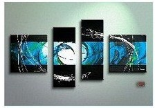 MODERN ABSTRACT ORNAMENTS ART OIL PAINTING Guaranteed 100% Free shipping(China (Mainland))
