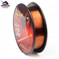 5pcs mix wholesale good Cheapest fishing line ,nylon line ,coffee color fishing rope 100m free shipping tackle tools FYX07
