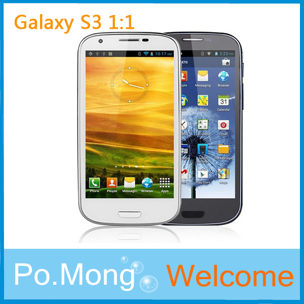 New arriva 4.8 inch MTK6577 Dual core Android 4.1 GT I9300 WIFI Gps phone In stock 1:1(China (Mainland))