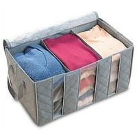 Bamboo charcoal storage box 65l non-woven clothing storage box finishing
