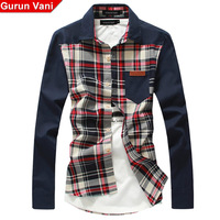 2013 summer casual plaid shirt slim male long-sleeve shirt men's clothing