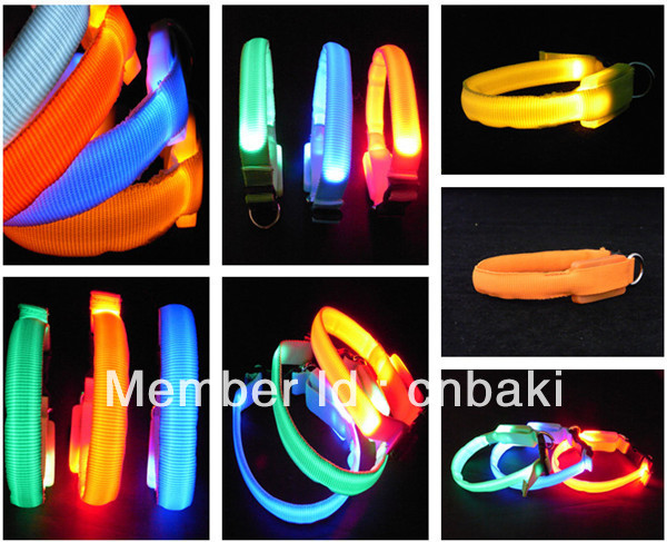 LED flash pet products light small dog collar(China (Mainland))
