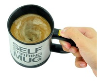 Free shipping 2013 hot sale automatic coffee mixing cup mug stainless steel  self stirring mug