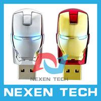 Iron Man USB Flash Drive Full Capacity Memory Stick USB Drive Pen Drive Storage 2GB 4GB 8GB 16GB 32GB USB Flash Drive Iron Man
