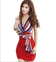2013 new sexy club KTV package buttocks tight shoulder strap temperament dress