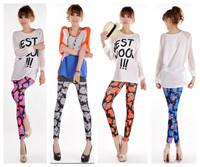 Женские брюки New fashion women's trousers lattice pants black and white cotton pants HSY991