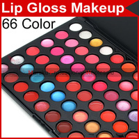 Pro Professional 66 Color Lip Gloss Gorgeous Lipstick Makeup Make up Cosmetic Palette Tool Set 3178