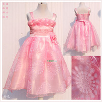 new 2014 girls' dresses Child tulle princess dress child performance dress the girl