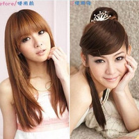 Fake fringe qi oblique bangs hair extension tablets