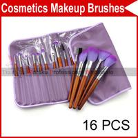 Professional 16 PCS Pro Eyebrow Lip Eye shadow Eyeshadow Blusher Brushes Cosmetic Makeup Make up Brush Set 2222