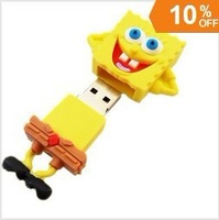 Freeshipping+dropshipping!Hot sales New cartoom spongebob model usb 2.0 memory stick pen thumb driv