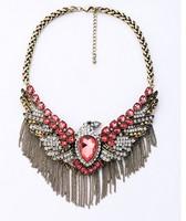 High Quality Retro Alloy Tassels Eagle Necklace Luxury Statement Necklaces & pendants women 2014