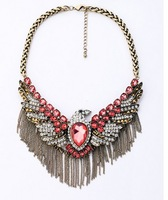 High Quality Retro Alloy Tassels Eagle Necklace Luxury Statement Necklaces & pendants women 2014