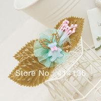 The Latest Hotsale  Fairlady 18K Gold  Butterfly Blue Bear Leaf Hair Clips
