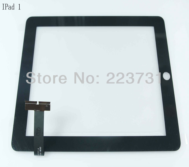 Free shipping large stock OEM New glass digitizer for Ipad 1 touch panel(China (Mainland))