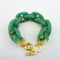 Free shipping Emerald Color Pave Link Bracelet,crystal chain link bracelet