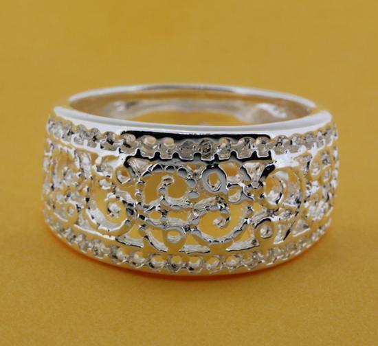 R211 Size:6,7,8,9 925 silver ring, 925 silver fashion jewelry ring fashion ring /bikajzrasr(China (Mainland))