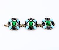 Free shipping  crystal encrusted bracelet, New york desginer Bracelet