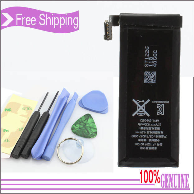 Original genuine P11G97-02-S01 Battery Replacement Part + Tools for iPhone4 4 4G 1420mAh 3.7V free shipping(China (Mainland))