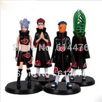 Free shipping 80sets/lot Japan Anime Naruto set of 4pcs Zetsu Tobi Figure Set Figurine