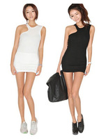 2014 spring and summer women's basic skirt female slim tank dress one-piece dress sleeveless basic slim hip