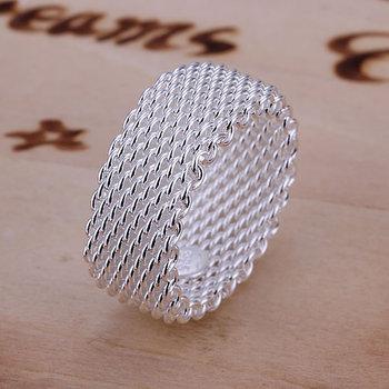 R040 Size:6, 7, 8, 9, 10 925 silver ring, 925 silver fashion jewelry, Web Ring /bddajukasl