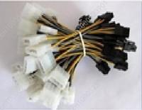 P4 Male Molex IDE to P6 Female ATX Power Cable Adapter