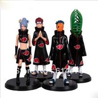 Free shipping 30sets/lot Japan Anime Naruto set of 4pcs Zetsu Tobi Figure Set Figurine